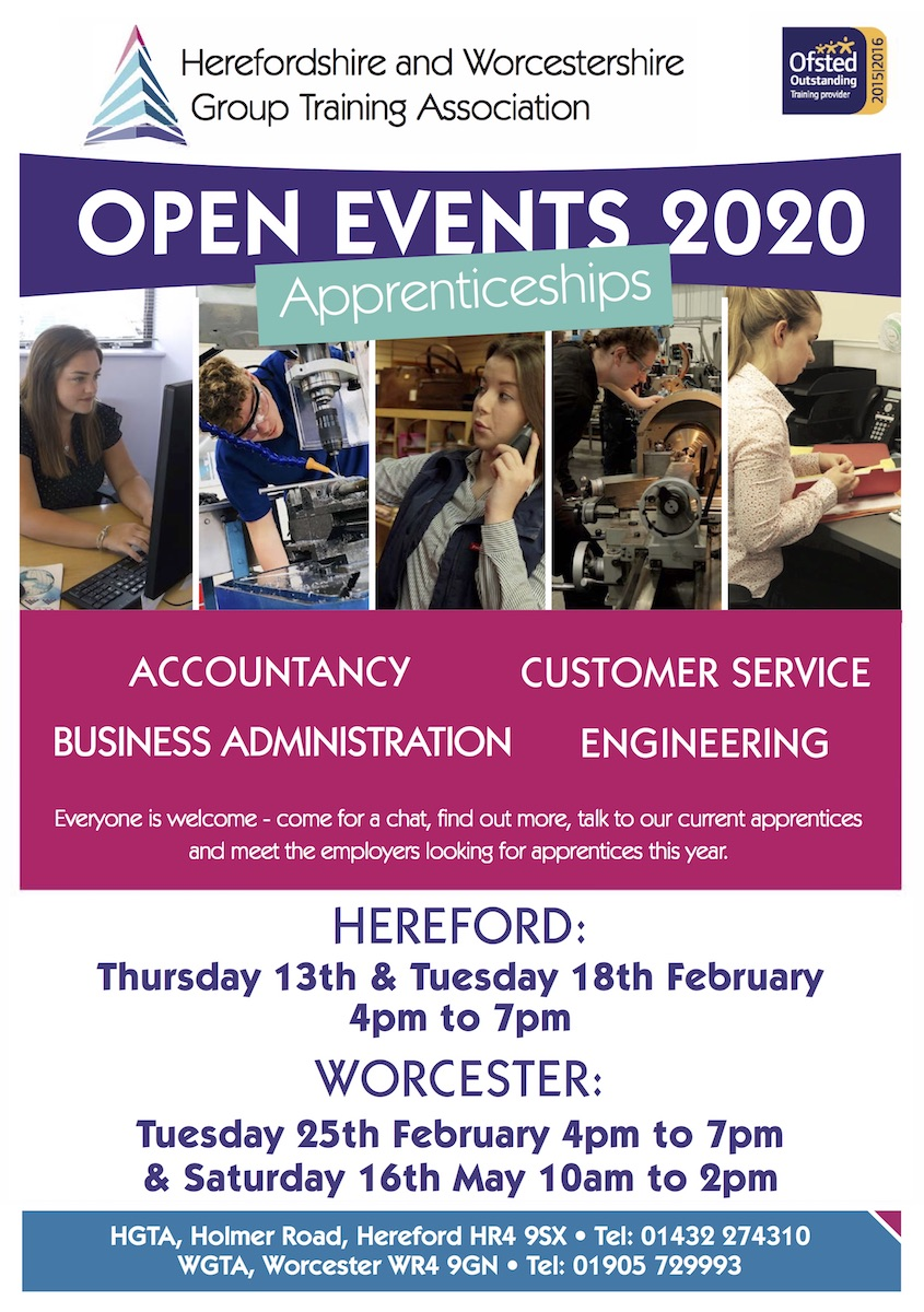 HWGTA open Event Poster 2020