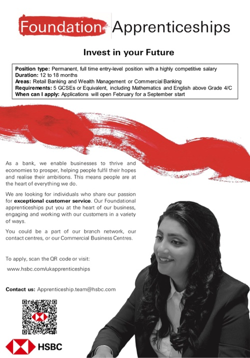 HSBC Work Experience and Apprenticeships