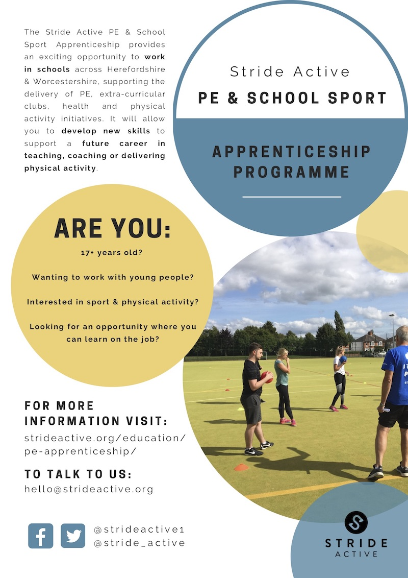 The Stride Active PE & School Sport Apprenticeship