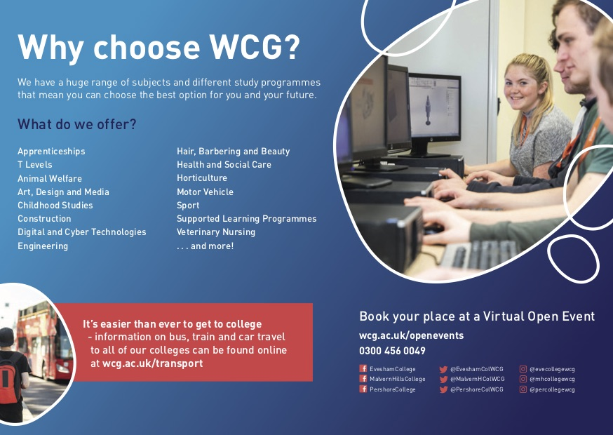 WCG Worcestershire Virtual Open Events - Nov 2020
